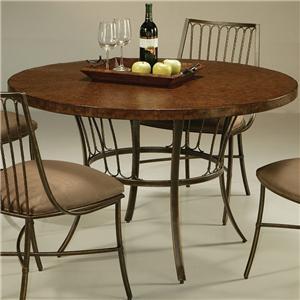 "Pastel Minson Victoria 45"" Round Hammered Metal Table"