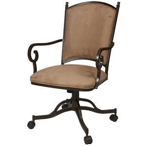 Pastel Minson Atrium Caster Dining Chair