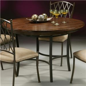 Pastel Minson Atrium Metal & Wood Round Table