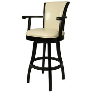 "Pastel Minson Bar Stools Collection 30"" Glenwood Bar Height Arm Stool"