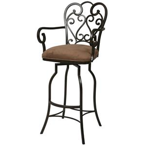 """Pastel Minson Bar Stools Collection 26"""" Magnolia Counter Height Arm Stool"""