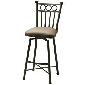 Bar Stool with Upholstered Seat and Slat Back