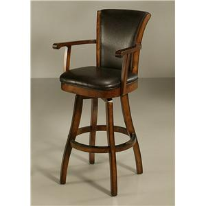 "Pastel Minson Contemporary Barstools Glenwood 26"" Swivel Barstool with Arms"