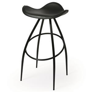"Pastel Minson Contemporary Barstools Mustang 26"" Backless Barstool"