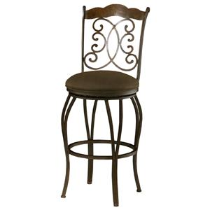 "Athena 26"" Swivel Barstool with Cowboy Brown Seat"