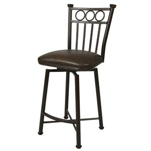 "Pastel Minson Iron Barstools Bostonian 26"" Swivel Barstool in Autumn Rust"