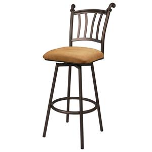 "Pastel Minson Iron Barstools Fairfield 26"" Swivel Barstool"