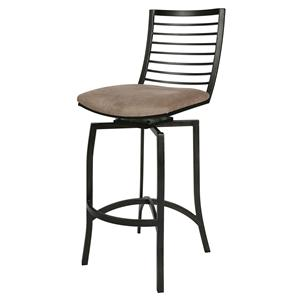 "Pastel Minson Iron Barstools Kayak Point 26"" Swivel Barstool"