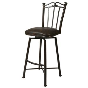"Pastel Minson Iron Barstools Laguna 26"" Swivel Barstool in Autumn Rust"