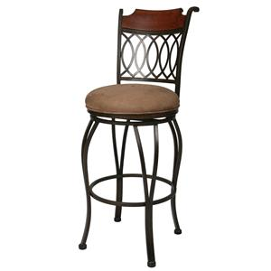 "Pastel Minson Iron Barstools Lexington 26"" Swivel Barstool"