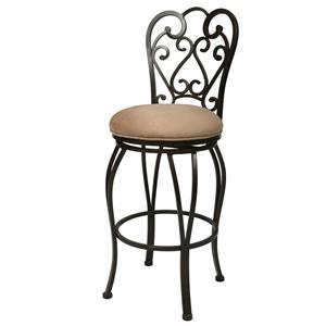"Magnolia 30"" Swivel Barstool with Mocassin Suede"
