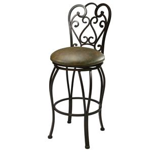 "Pastel Minson Iron Barstools Magnolia 26"" Swivel Barstool (Set-Up Style)"