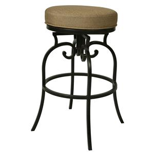 "Pastel Minson Iron Barstools Magnolia 30"" Backless Outdoor Barstool"