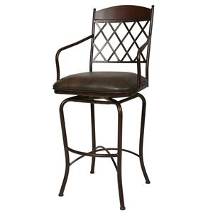 "Pastel Minson Iron Barstools Napa Ridge 26"" Swivel Barstool Autumn Rust"