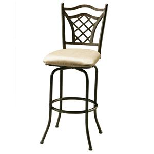 "Pastel Minson Iron Barstools Willow Bridge 26"" Swivel Barstool"