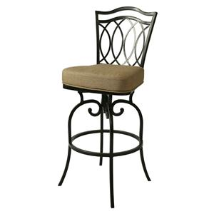 "Pastel Minson Iron Barstools West Port 30"" Outdoor Swivel Barstool"