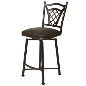 "Pastel Minson Iron Barstools Waverly 26"" Swivel Barstool"
