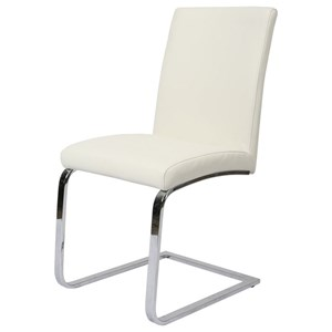 Contemporary Off White Upholstered Side Chair