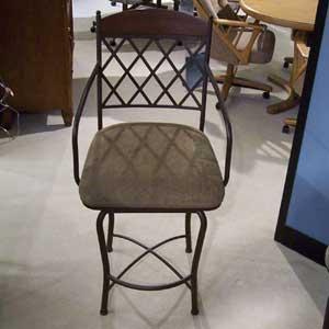 "Pastel Minson Napa Ridge 26"" Swivel Barstool with Fabric Seat"