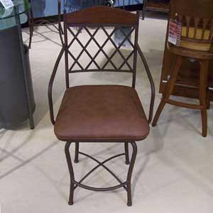 "Pastel Minson Napa Ridge 26"" Swivel Barstool with Vinyl Seat"