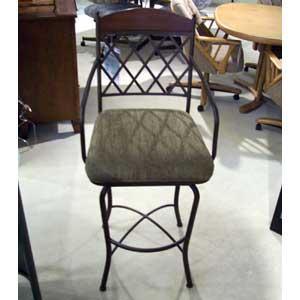"Pastel Minson Napa Ridge 30"" Swivel Barstool with Fabric Seat"