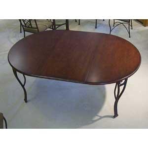 "Pastel Minson Napa Ridge 71"" Metal and Wood Oval Table"
