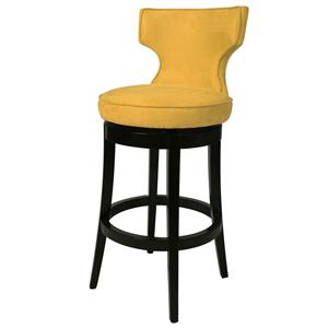 "Augusta 30"" Swivel Barstool in Micro Fiber Yellow"