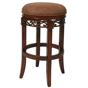 "Pastel Minson Wood Barstools Carmel 26"" Backless Barstool"