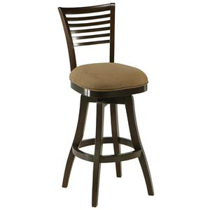 "Pastel Minson Wood Barstools Grand Vista 26"" Swivel Barstool"