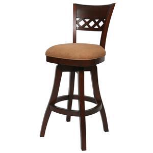 "Pastel Minson Wood Barstools Horizon 26"" Swivel Barstool"