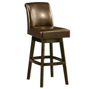 "Pastel Minson Wood Barstools Lake Village 26"" Swivel Barstool"