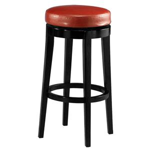 "Richfield 30"" Backless Barstool in Red Leather"