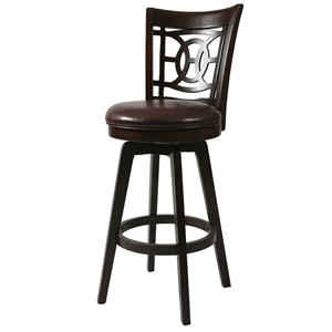 "Pastel Minson Wood Barstools Royal Vista 26"" Swivel Barstool"