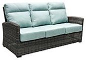 Patio Renaissance Outdoor Sofa With 2 Pillows by Patio Renaissance at Johnny Janosik
