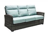 Outdoor Sofa With 2 Pillows