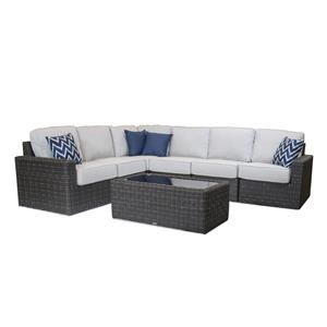 7 Piece Sectional with Cocktail Table
