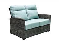 Outdoor Loveseat With 2 Pillows