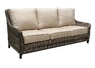 Outdoor Highback Sofa With 2 Pillows