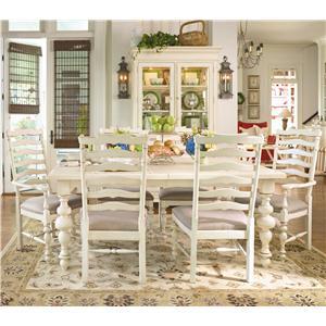 Paula Deen by Universal Paula Deen Home Paula's Table w/ Ladder Arm & Side Chairs