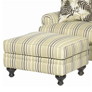 Ottoman with Traditional Turned Wood Legs