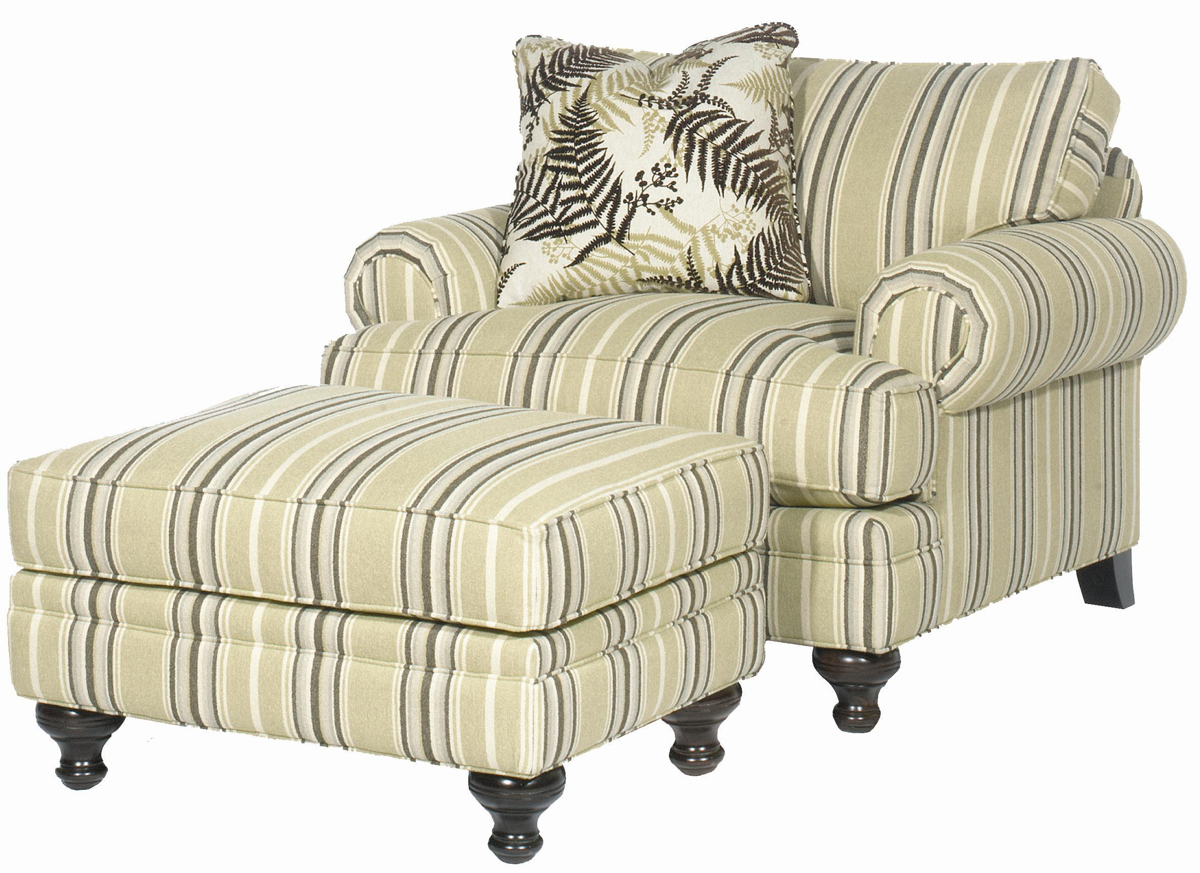 P709900 Chair & Ottoman Set by Paula Deen by Craftmaster at Home Collections Furniture