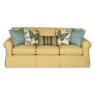 Queen Sleeper Sofa with Memoryfoam Mattress and Skirted Base