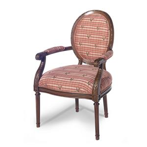 Oval Back Exposed Wood Chair