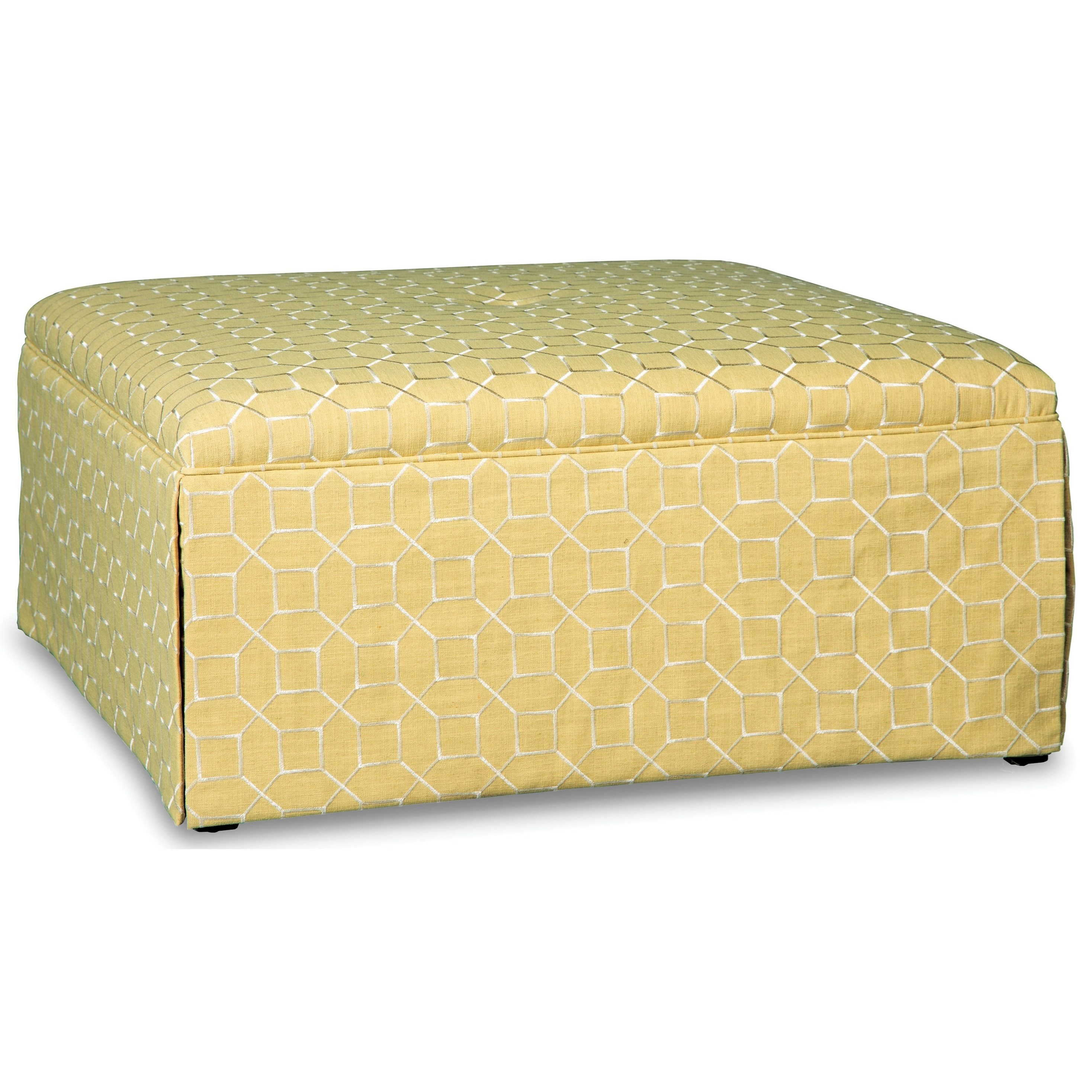Paula Deen Upholstered Accents Square Cocktail Ottoman by Paula Deen by Craftmaster at Suburban Furniture