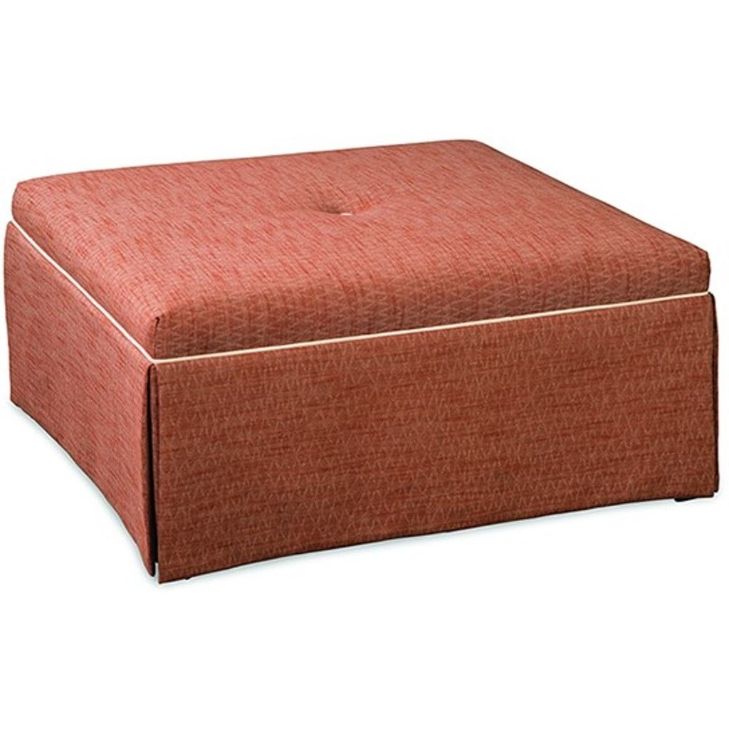 Paula Deen Upholstered Accents Square Cocktail Ottoman by Paula Deen by Craftmaster at Zak's Home