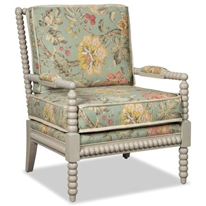 Traditional Spool-Turned Chair with Flange Welt