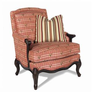 Exposed Wood Chair with Cabriole Legs