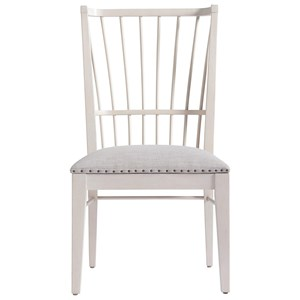 Upholstered Windsor Chair with Nail Head Trim