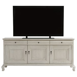Cottage Entertainment Console with Wire Management and Adjustable Shelves