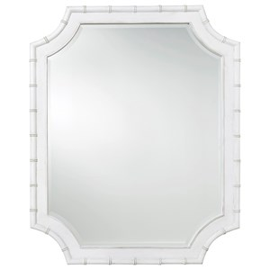 Bamboo Mirror with Beveled Glass